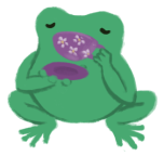 Varian the Toadshifter drinking tea, holding a teacup to his mouth.