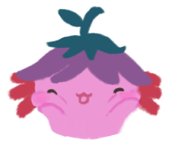 Xiaolong the pink axolotl, squishing her cheeks in excitement!