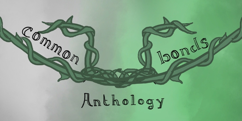 Common Bonds Anthology, with green vines intertwining and twisting across from left to right.