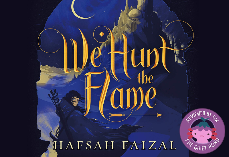 Text: We Hunt the Flame by Hafsah Faizal.