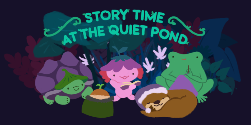 story time at the quiet pond