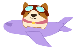 the quiet pond bao the corgi plane