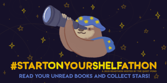 #StartOnYourShelfathon: A 2020 readathon hosted by the quiet pond. read your unread books and collect stars!