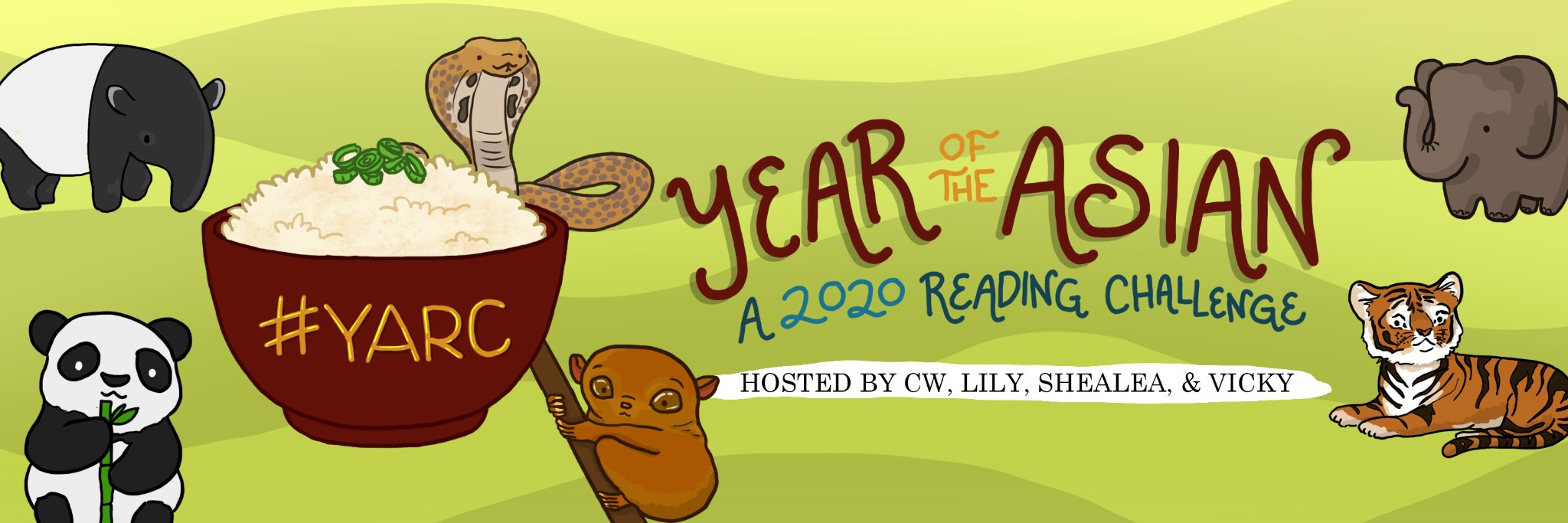 Year of the Asian, a 2020 Reading Challenge. Hosted by CW, Lily, Shealea, and Vicky